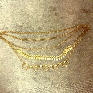 Stella and dot reversible statement necklace